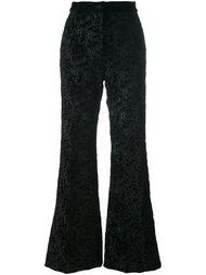 бархатные брюки с вышивкой Rochas
