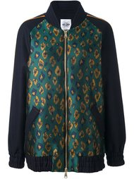 куртка-бомбер с леопардовым принтом   Si Jay