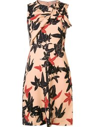 короткое платье с узором 'leaves' Nº21