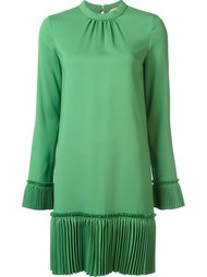 платье шифт с плиссированной деталью Nº21