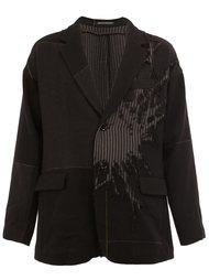 блейзер с вышивкой  Yohji Yamamoto