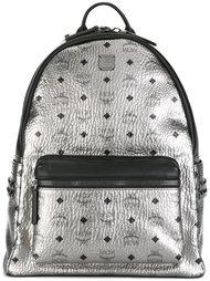рюкзак с монограммой и эффектом металлик MCM