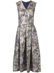 платье с цветочным узором и эффектом металлик Raoul