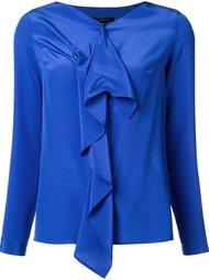 блузка с V-образным вырезом и оборками Walter Voulaz