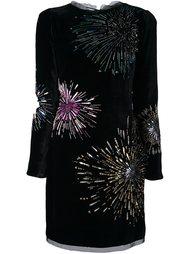 декорированное платье Roberto Cavalli