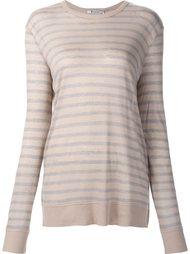 прозрачная футболка в полоску T By Alexander Wang