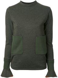 трикотажный пуловер с накладными карманами Toga