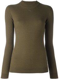 свитер с отделкой в рубчик Courrèges