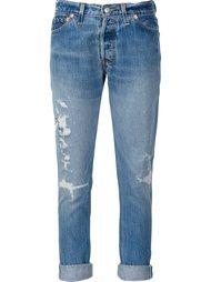 укороченные джинсы с рваными деталями Re/Done