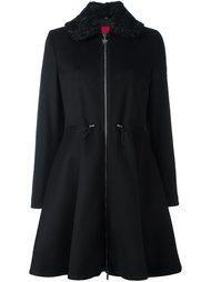 расклешенное пальто с капюшоном Moncler Gamme Rouge