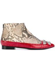 ботинки с эффектом змеиной кожи Toga