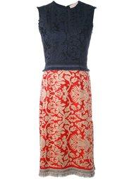 жаккардовое платье шифт с цветочным узором Erika Cavallini