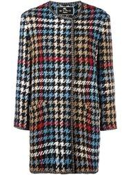 пальто с узором в ломаную клетку Etro