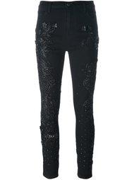 декорированные джинсы скинни Amen