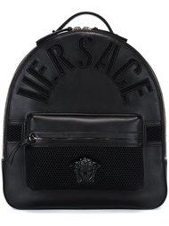 рюкзак с тисненым логотипом Versace