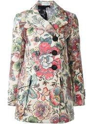 двубортное пальто с цветочным узором Faith Connexion
