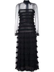 длинное платье с оборками Red Valentino