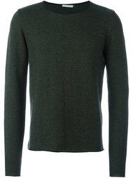 пуловер с узором-елочкой Société Anonyme