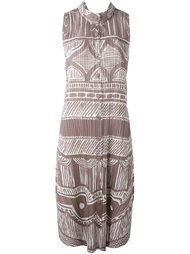 плиссированное платье-рубашка без рукавов Pleats Please By Issey Miyake