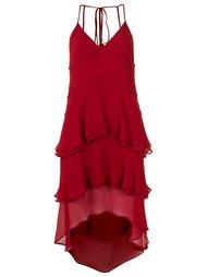 многоярусное платье с V-образным вырезом Reinaldo Lourenço
