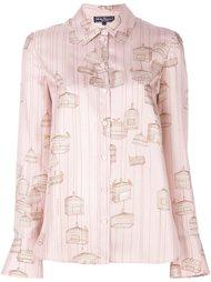 блузка с рисунком в виде клеток Salvatore Ferragamo