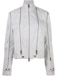 джинсовая куртка с отделкой молниями J.W.Anderson