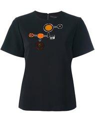 футболка с геометрической аппликацией David Koma