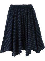 юбка в полоску с необработанными краями Julien David