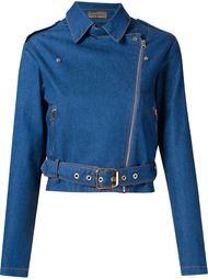 укороченная джинсовая байкерская куртка  Amapô