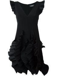 платье с оборками Capucci