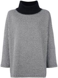свитер с высокой горловиной с узором шеврон Junya Watanabe Comme Des Garçons