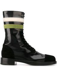 полосатые сапоги со шнуровкой Raf Simons