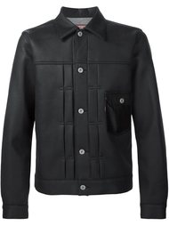 кожаная куртка на пуговицах Junya Watanabe Comme Des Garçons Man