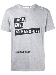 футболка 'Race Age No' Martine Rose