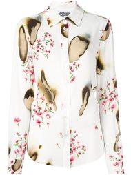 рубашка с цветочным принтом Moschino