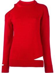 свитер с вырезом на плече Erika Cavallini