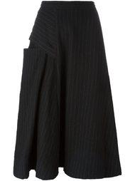 асимметричная юбка в тонкую полоску Y's