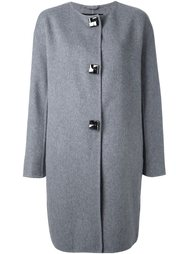 объемное пальто на пуговицах Ermanno Scervino
