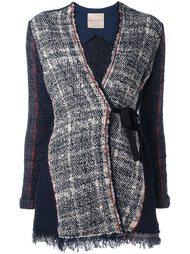 твидовый пиджак с завязками Erika Cavallini