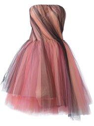 тюлевое платье без бретелей Oscar de la Renta