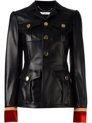 приталенная куртка с вышивкой на манжетах Givenchy
