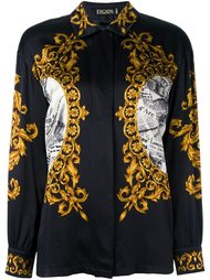 'Baroque' printed shirt Escada Vintage