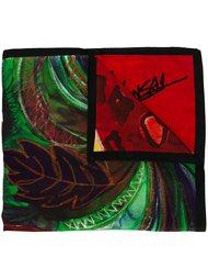 illustarted leopard print scarf Kansai Yamamoto Vintage