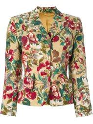 floral print fitted jacket Kenzo Vintage
