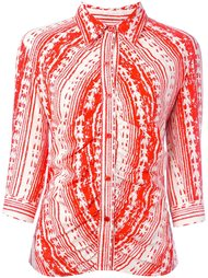 фактурная рубашка с графическим принтом Walter Van Beirendonck Vintage
