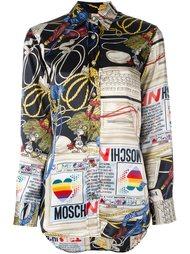 'computer' print shirt Moschino Vintage