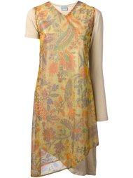 платье с люрексом и цветочным принтом Walter Van Beirendonck Vintage