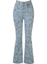 floral flared jeans Amapô