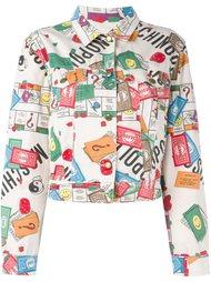 Monopoly print denim jacket Moschino Vintage