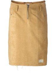 облегающая юбка с бахромой Walter Van Beirendonck Vintage